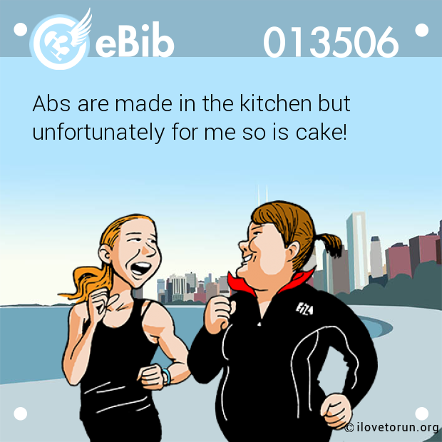Abs are made in the kitchen bu...