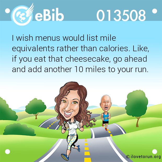 I wish menus would list mile...