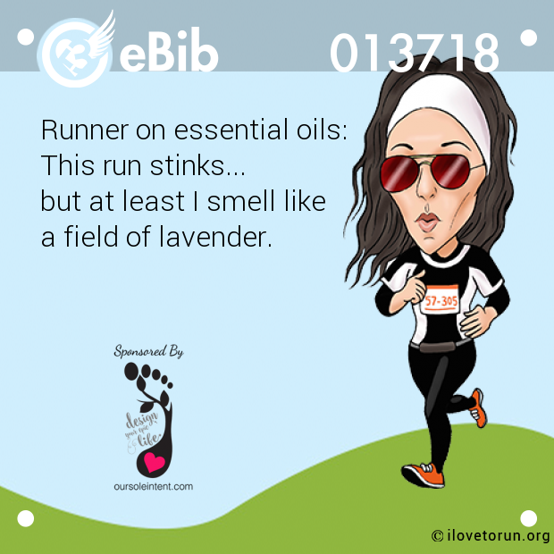 Runner on essential oils:
