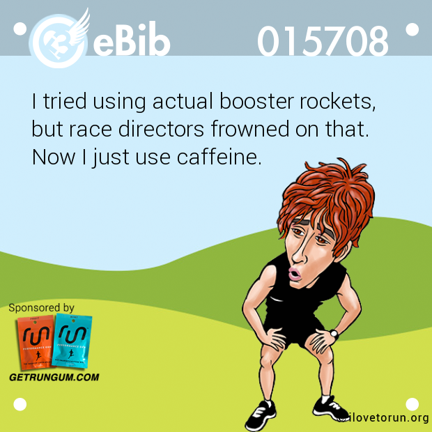 I tried using actual booster rockets, 
