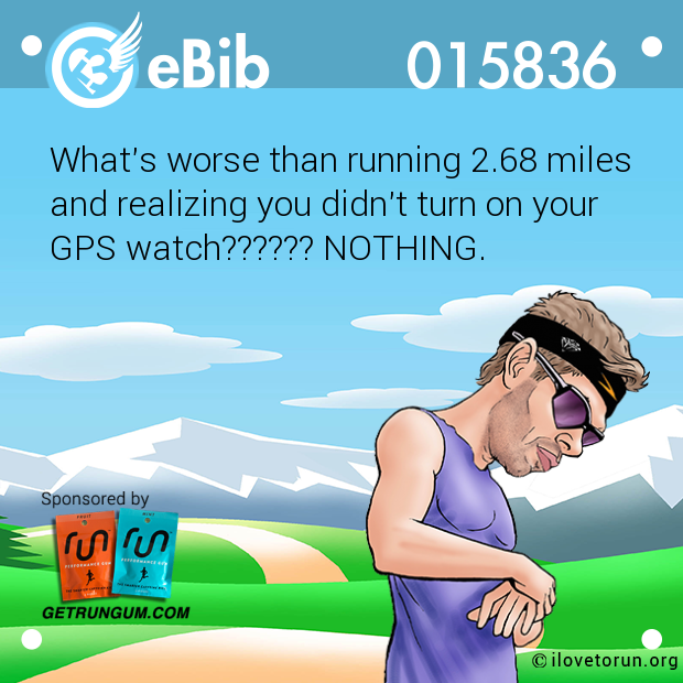 What's worse than running 2.68 miles 