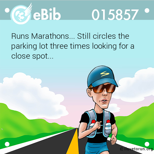 Runs Marathons... Still circle...
