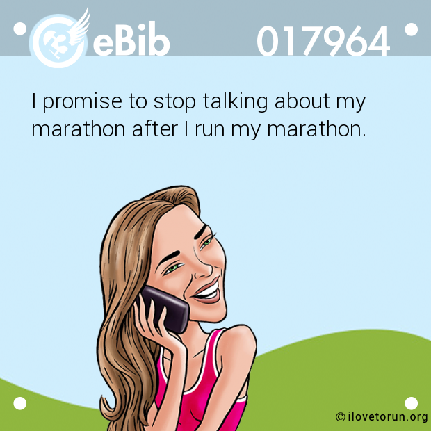 I promise to stop talking about my