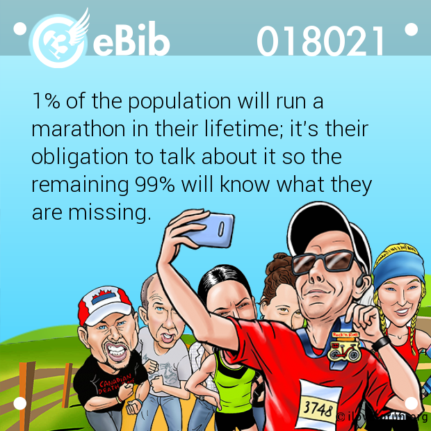 1% of the population will run a