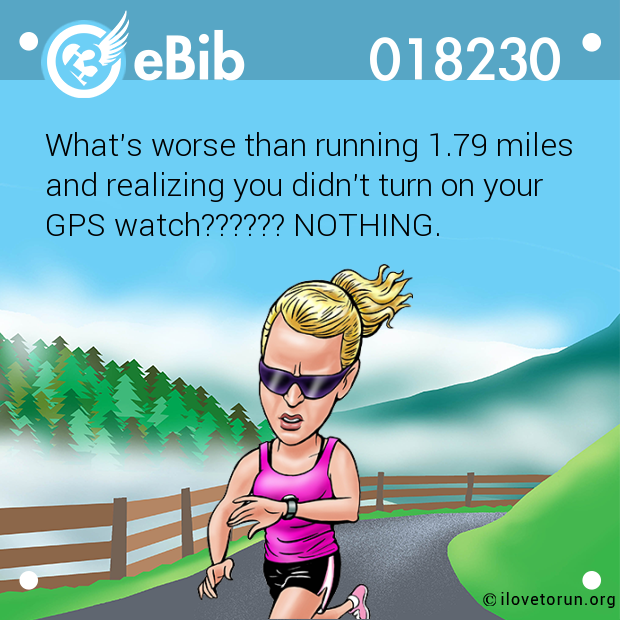 What's worse than running 1.79 miles 