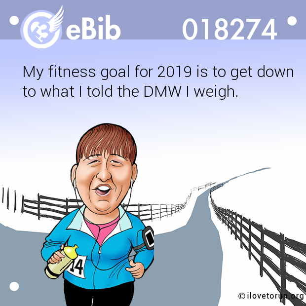 My fitness goal for 2019 is to get down