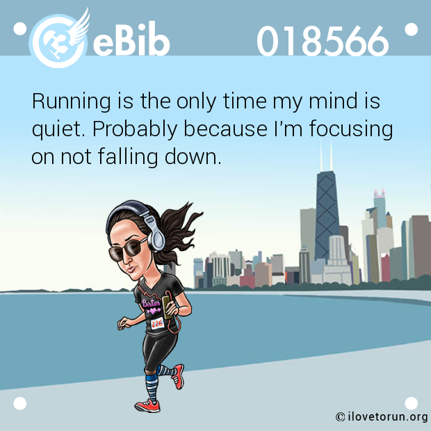 Running is the only time my mi...