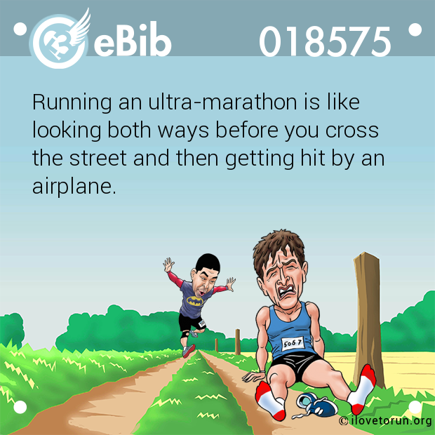 Running an ultra-marathon is like 