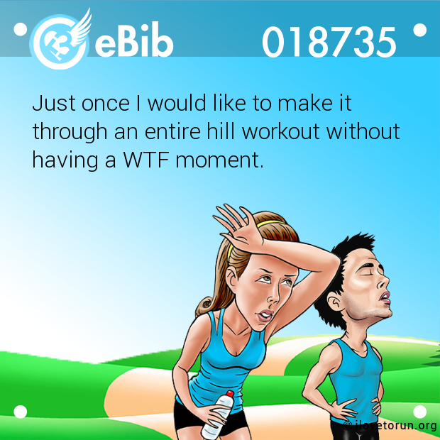 Just once I would like to make it