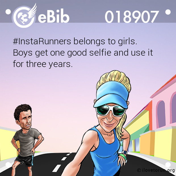 #InstaRunners belongs to girls.
