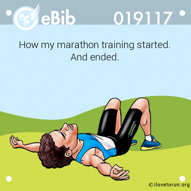 How my marathon training started.