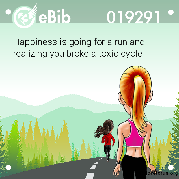 Happiness is going for a run a...