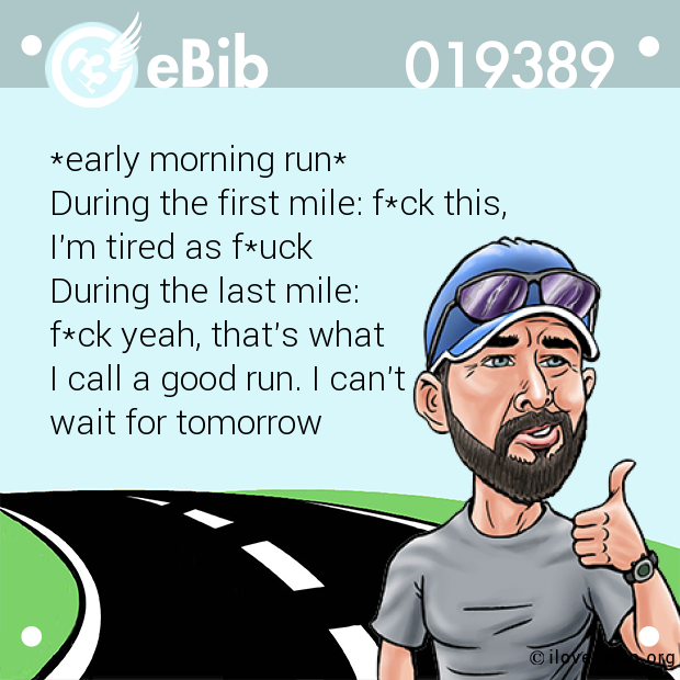 *early morning run*