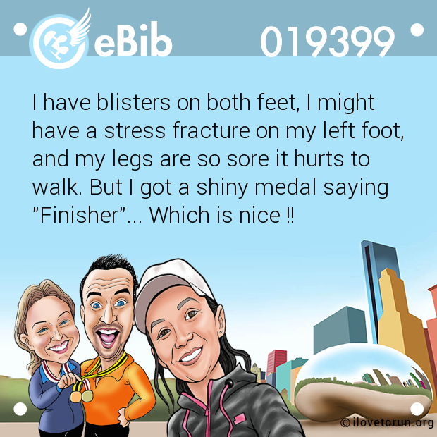 I have blisters on both feet,...