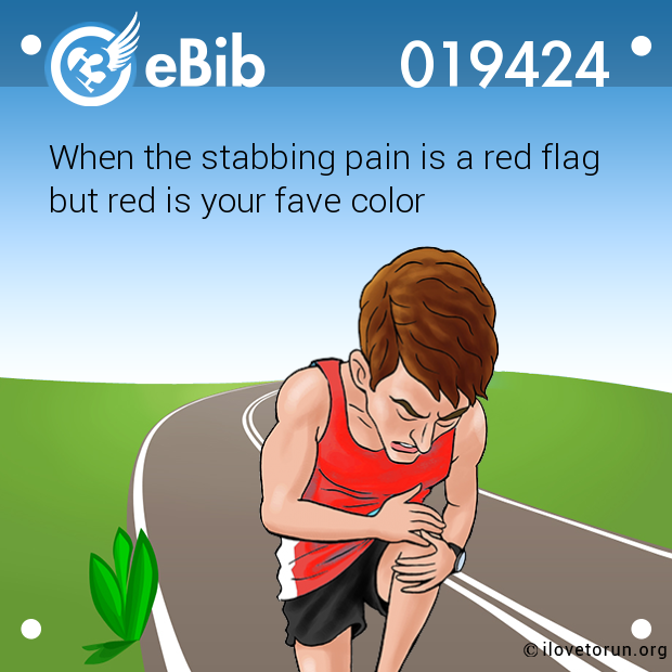 When the stabbing pain is a red flag  but red is your fave color