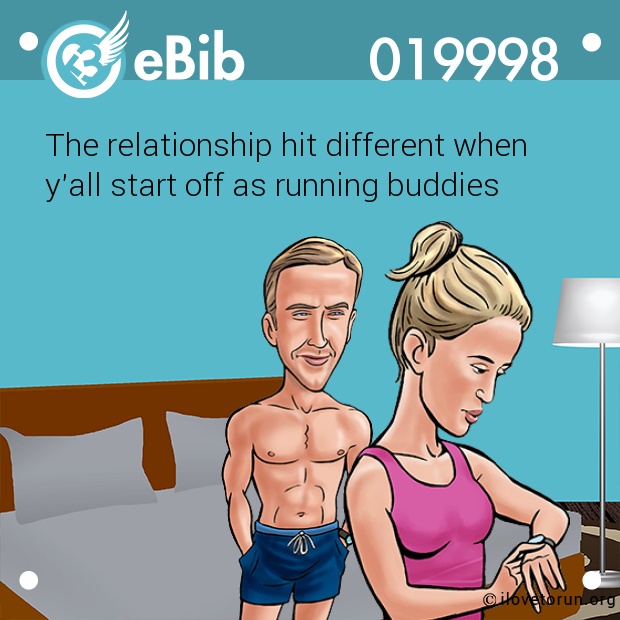 The relationship hit different when  y'all start off as running buddies
