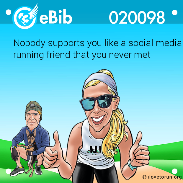 Nobody supports you like a social media running friend that you never met
