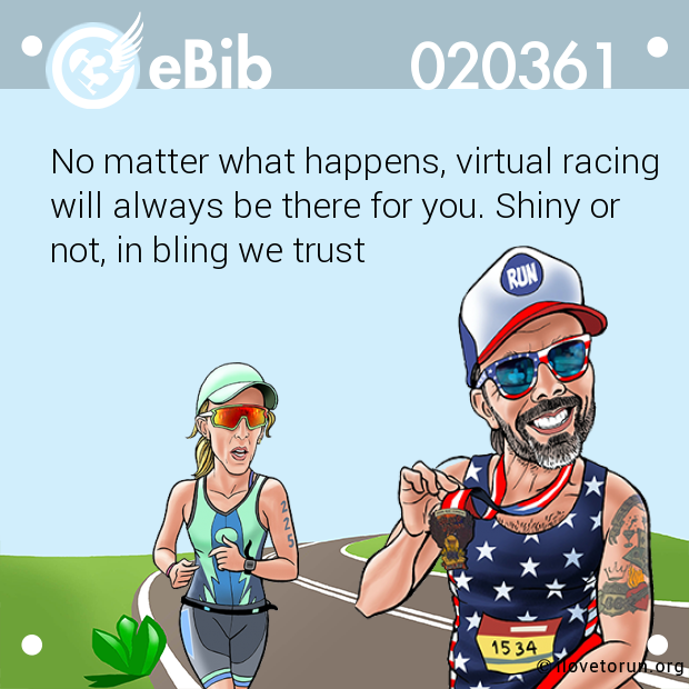 No matter what happens, virtual racing will always be there for you. Shiny or not, in bling we trust