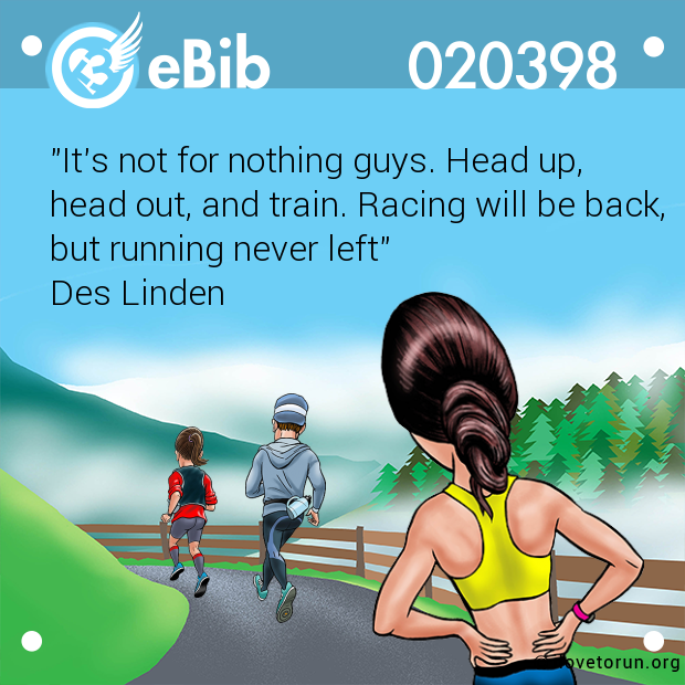 """It's not for nothing guys. Head up, 
