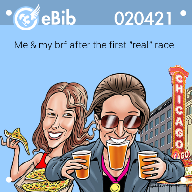 "Me & my brf after the first ""real"" race"