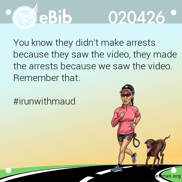 You know they didn't make arrests 