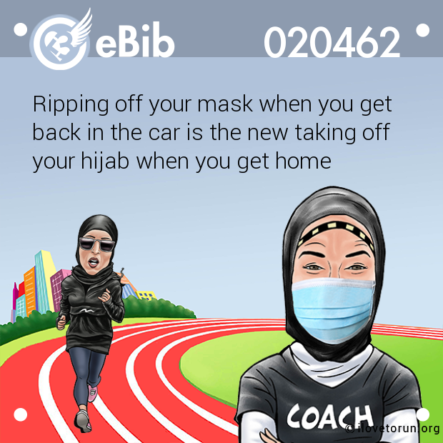 Ripping off your mask when you get  back in the car is the new taking off  your hijab when you get home