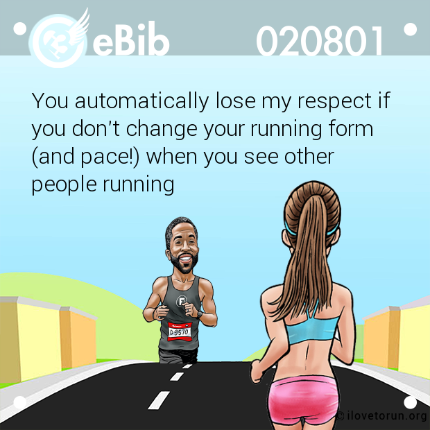 You automatically lose my respect if 