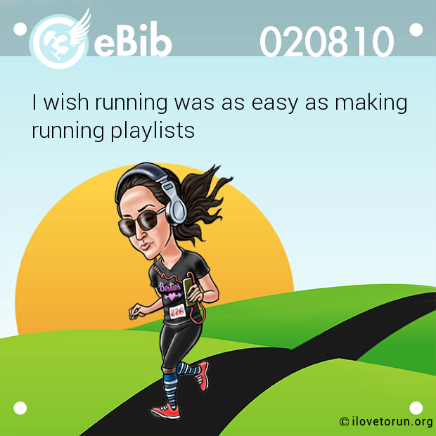 I wish running was as easy as making running playlists