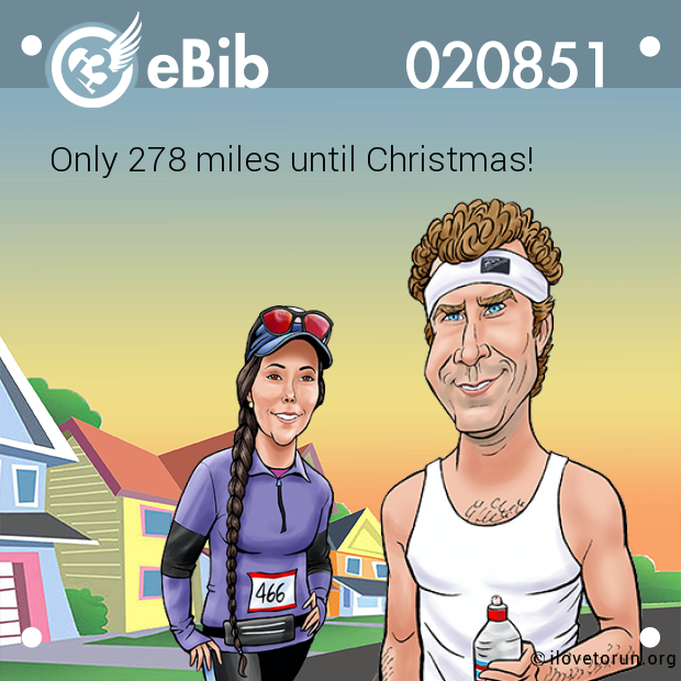 Only 278 miles until Christmas!