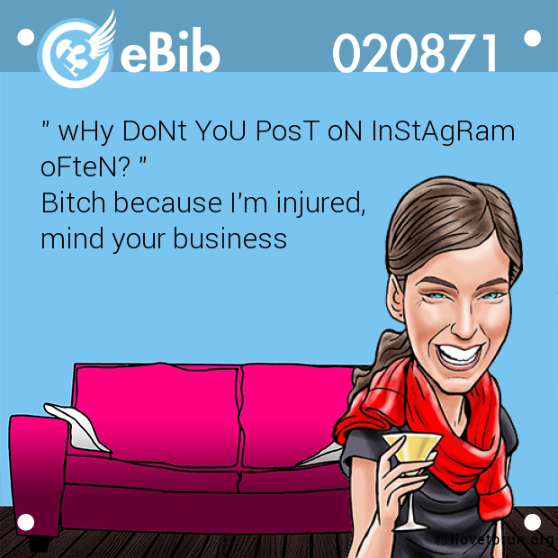 """ wHy DoNt YoU PosT oN InStAgRam 