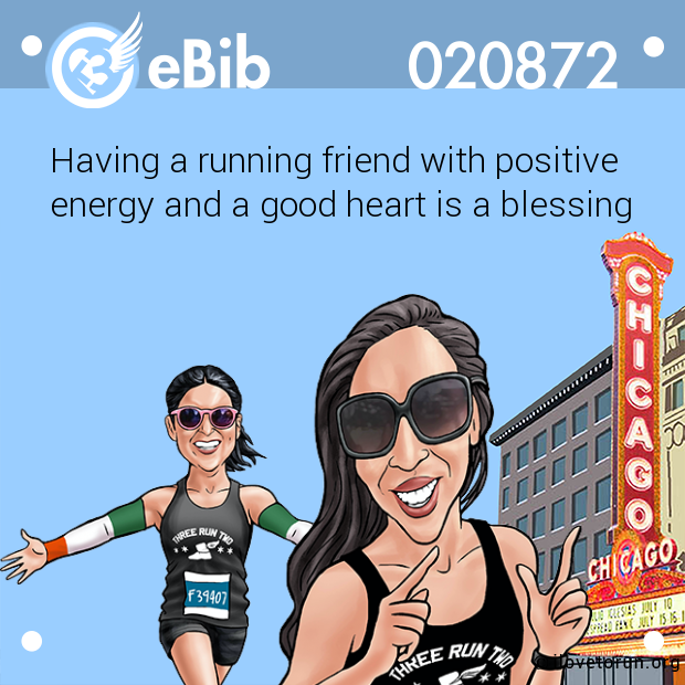Having a running friend with positive energy and a good heart is a blessing