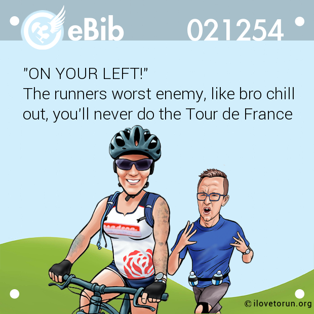 """ON YOUR LEFT!""