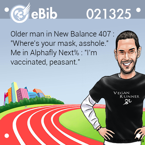 Older man in New Balance 407 : 