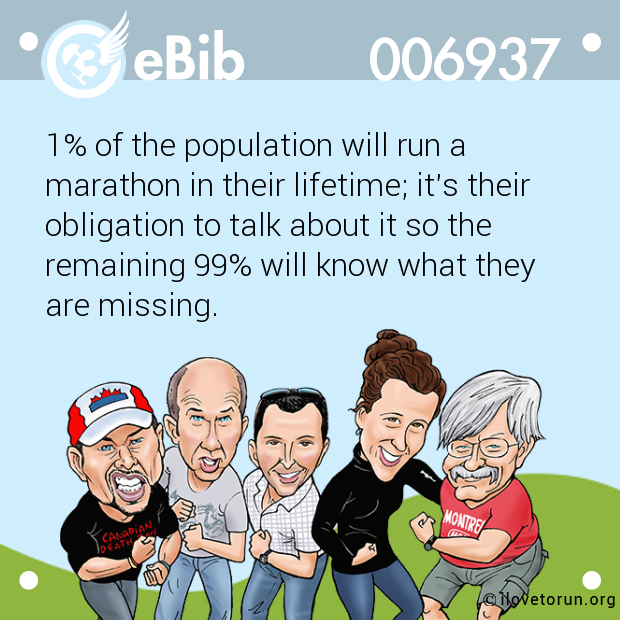 1% of the population will run...