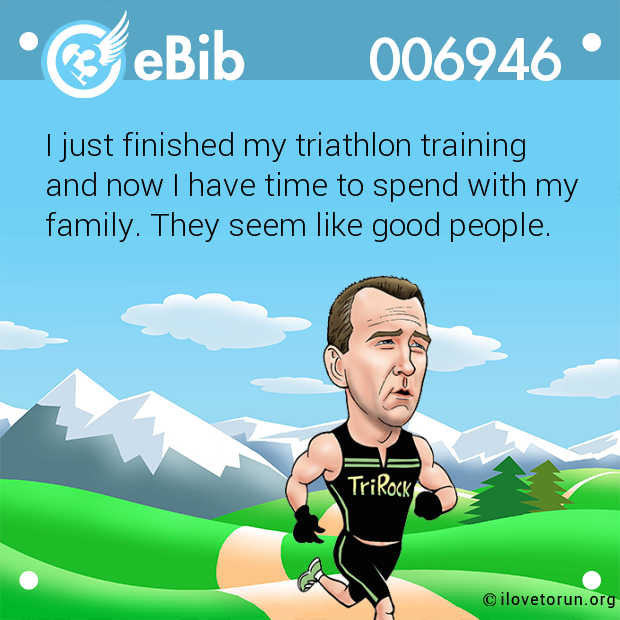 I just finished my triathlon training