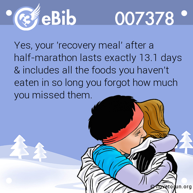Yes, your 'recovery meal' after a