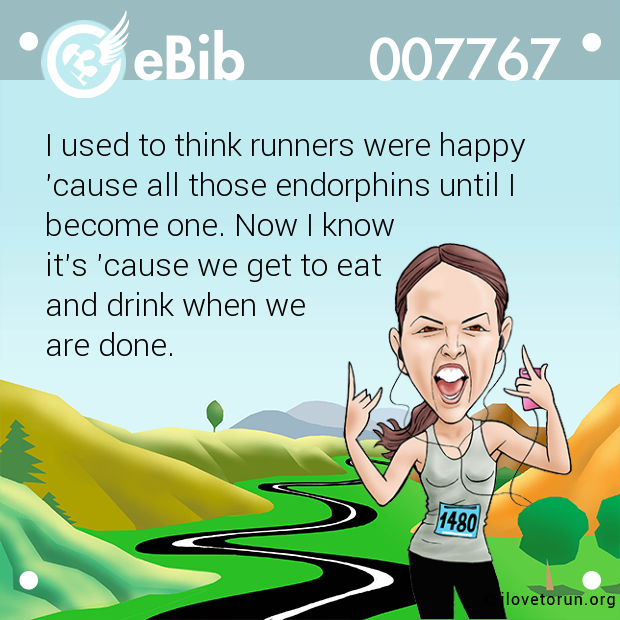 I used to think runners were happy 