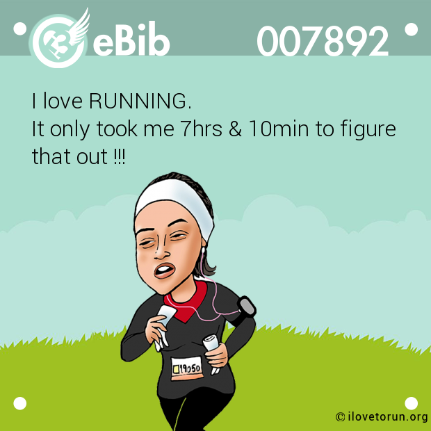 I love RUNNING.