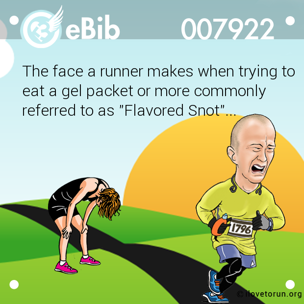 The face a runner makes when trying to