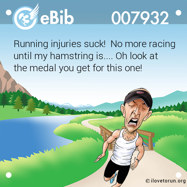 Running injuries suck!  No more racing