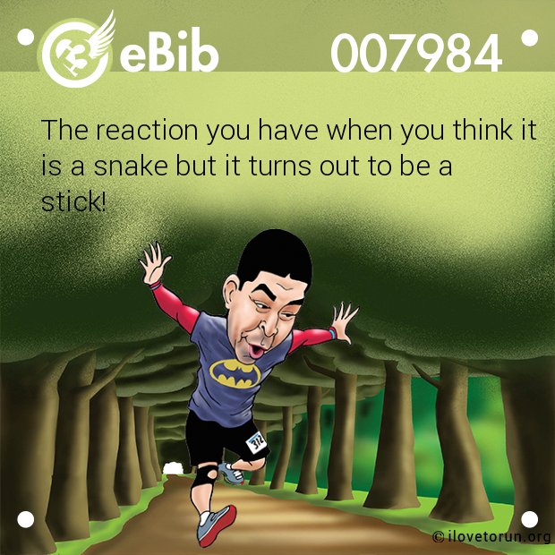 The reaction you have when you think it