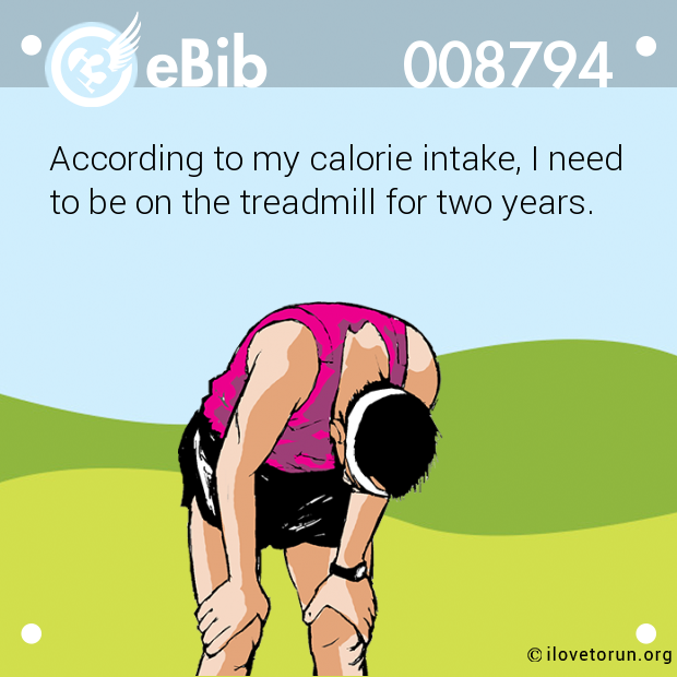 According to my calorie intake, I need 