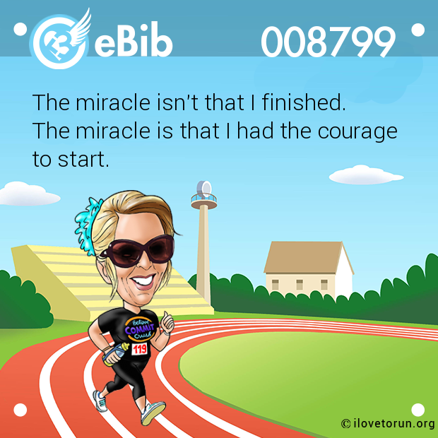 The miracle isn't that I finished. 