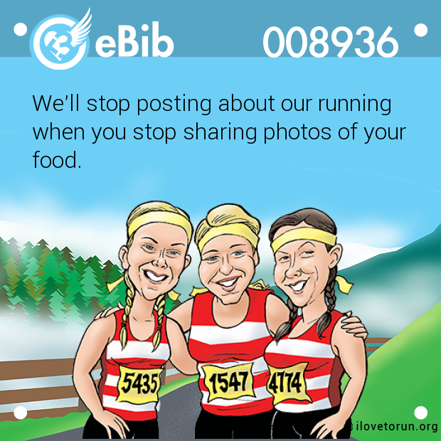 We'll stop posting about our running 