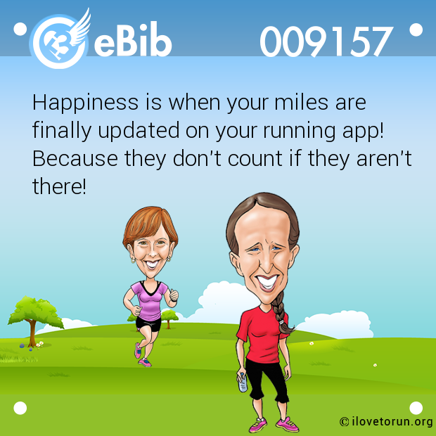 Happiness is when your miles are