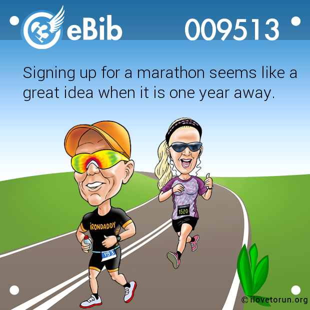 Signing up for a marathon seems like a