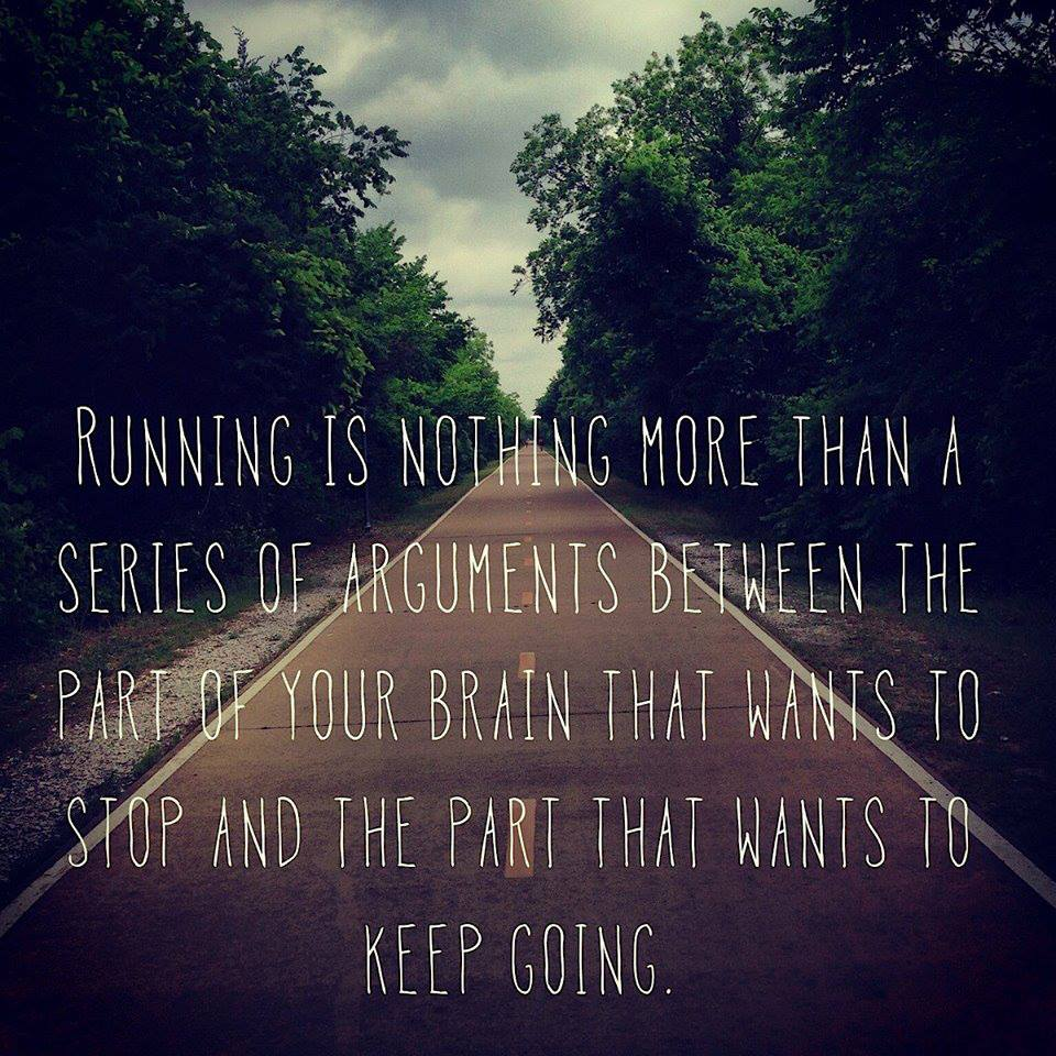 As runners, we all know pain. We have waged war between our mind and our body, when it hurts so much that you start to justify why you should slow down, how it's OK to let go. The best runners are those who aren't afraid to give their best, even when that may not be enough to win. At the end of the day, no matter how many people you beat or what time you run, what matters most is how you feel about your performance. You know how you handled the pain and if you did your very best.