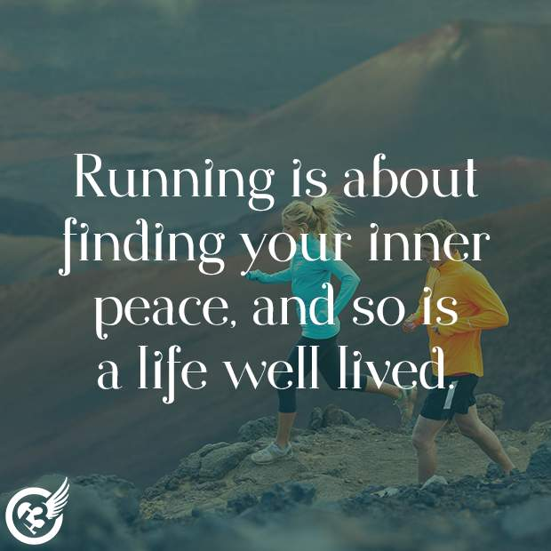 Running is about..