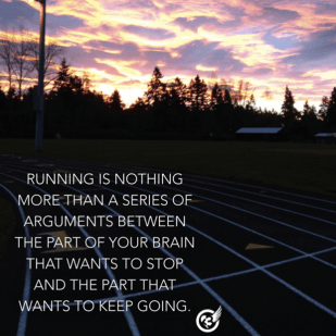 As runners, we all know pain....