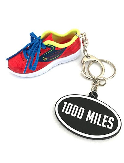 RUNNING SHOE, 1000miles bag charm